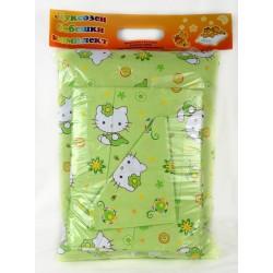Бебешки спален комплект Ранфорс Коте Зелен