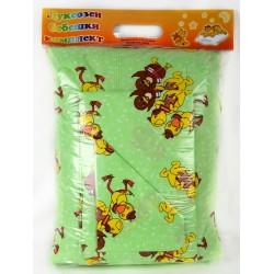 Бебешки спален комплект Ранфорс Пате зелен