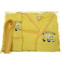 Комплект бебешки халат , хавлия и кисе с кола
