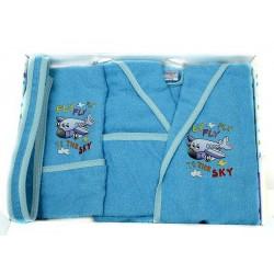 Комплект бебешки халат , хавлия и кисе FLY