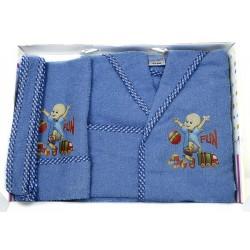 Комплект бебешки халат , хавлия и кисе FUN