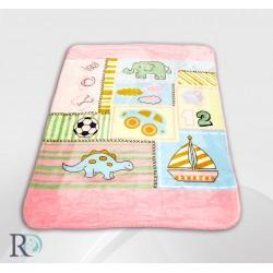Поларено одеяло за бебе ДИНО