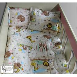 Бебешко спално бельо ZOO 100% памук