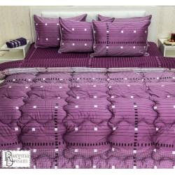 Спално бельо с олекотена завивка перкал Лавандула