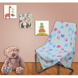 Бебешко поларено одеяло на ЛАПИЧКИ