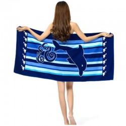 Плажна кърпа с делфин