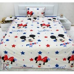 Луксозно спално бельо от фин памук МИКИ и МИНИ маус