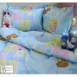 Бебешко спално бельо МЕЧЕ С ЦИГУЛКА синьо