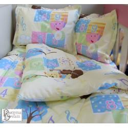 Бебешко спално бельо МЕЧЕ С ЦИГУЛКА жълто