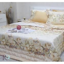 Спално бельо с лятна олекотена завивка ПРЕСЛАВА злато