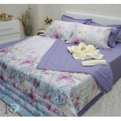 Спално бельо с лятна олекотена завивка ДИМАНА светло лила