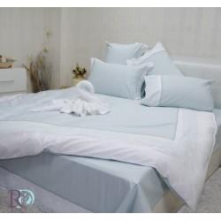 Луксозно спално бельо с дантела СИСИ аква