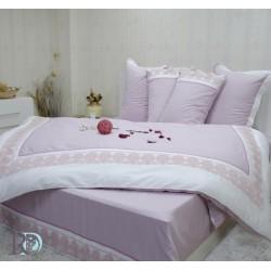 Луксозно спално бельо с дантела СИСИ лила