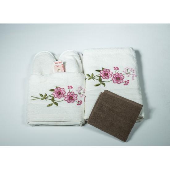 Луксозен комплект хавлиени кърпи 4 части