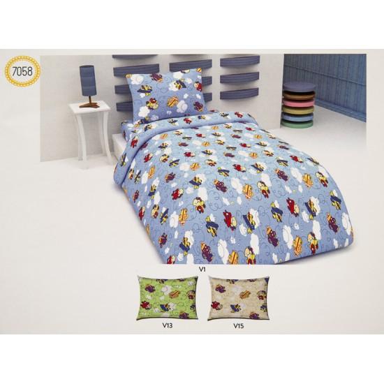 Бебешко спално бельо 100% Памук  САМОЛЕТ