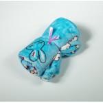 Бебешко одеяло ЖИВОТИНЧЕТА синьо