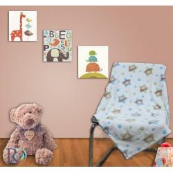 Бебешко поларено одеяло с МЕЧЕТА
