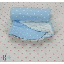 Бебешко одеяло 100% ПАМУК синьо
