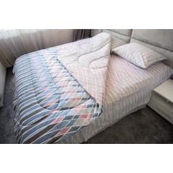 Ранфорс спално бельо с олекотена завивка STEF