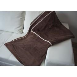 Поларено одеяло CORAL FLEEZE кафяво