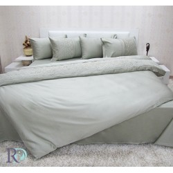 Луксозно спално бельо АХИНОРА с дантела ЗЕЛЕНО