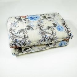Олекотена завивка от микрофибър КАЛИ синьо