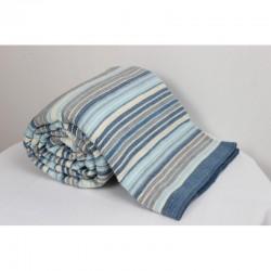 Памучно одеяло DARCEY синьо