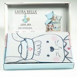 Ранфорс бебешко спално бельо LOVE SEA