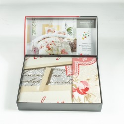 Премиум ранфорс спален комплект SERINA червено