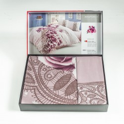 Премиум ранфорс спален комплект РОУЗИ лила