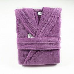 Плътен халат с качулка ЛИЛА