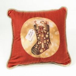 Декоративна коледна възглавница Подаръче
