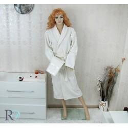 Луксозен комплект Халат с шал яка и 2 бр. Хавлии Debora в екрю