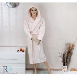Халат за баня с качулка Monika КРЕМ