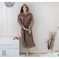 Уникален халат за баня с качулка Monika в цвят ШОКОЛАД
