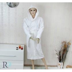 Халат за баня с качулка Monika в бяло
