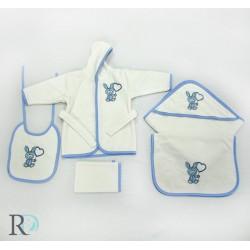 Бебешки хавлиен комплект 5 ЧАСТИ синьо