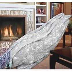 Одеяло Памук с орнаменти в сив цвят