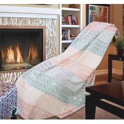 Одеяло Пачуърк Памук в цвят Праскова