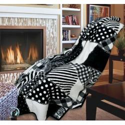 Одеяло памук Пачуърк в бяло и черно