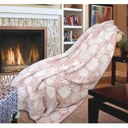 Одеяло Rozita Памук в цвят Пепел от рози
