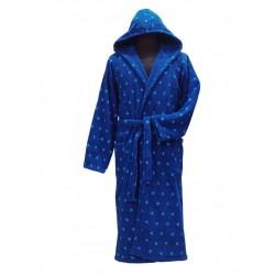 Халат за мъже ТОЧКИ синьо
