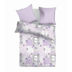 Спално бельо от 2 части RETRO лила