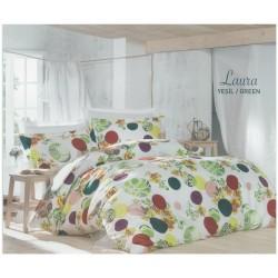 Спално бельо с кувертюра LAURA ранфорс