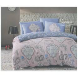 Спално бельо с кувертюра YOANNA синьо ранфорс