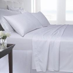 Памучен сатен РАЙЕ бяло спално бельо
