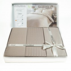 Спално бельо от бамбук сатен КАФЯВО