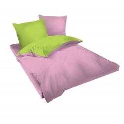 Спално бельо Розово и Зелено ранфорс