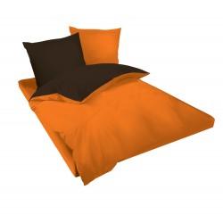 Спално бельо Оранжево и Кафяво ранфорс
