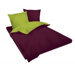 Спално бельо Виолетово и Зелено ранфорс